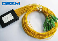 LAN / WAN Mini Module Fiber Optic PLC Splitter blockless 0.9mm with SC / UPC Connector