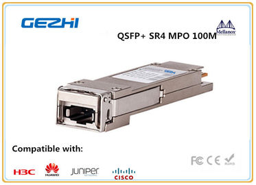 চীন 40G QSFP+ Module SR4 MPO 100M INDUSTRIAL Temp for Metro networks and Data centers পরিবেশক