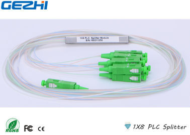 চীন Based On Planar Waveguide Technology 1x8 PLC Splitter Stainless Steel Tube কারখানা