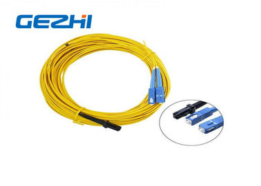 চীন LC / APC Patch Cord MT - RJ to SC Singlmode Duplex Zipcord Without Clip Yellow কারখানা