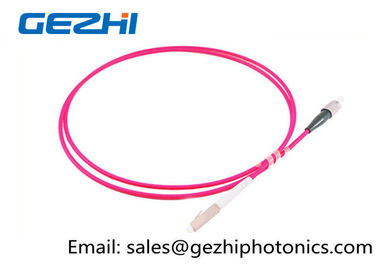 চীন LC / PC - FC / PC Optic Patch Cord Jumper OM4 50/125um Multimode LSZH 2M Pink Jacket কারখানা