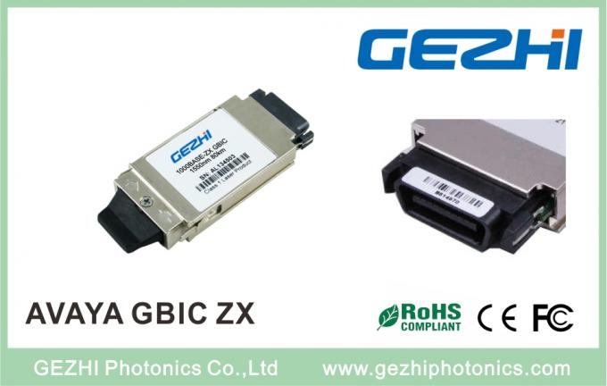 GE Fiber Channel CWDM GBIC Transceiver 0℃~ +70℃ Operating Temperature